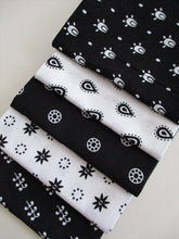 Load image into Gallery viewer, Essential Trend Black & White Fat Quarter Bundle 100% Cotton