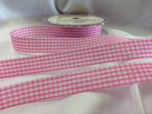 Load image into Gallery viewer, Gingham Cut Edge Ribbon 15mm Wide in 8 Shades