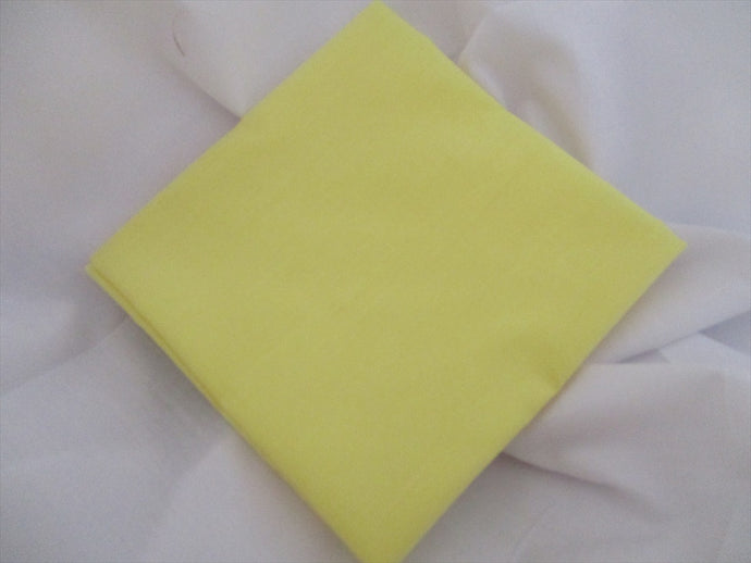 Plain Lemon Poly Cotton