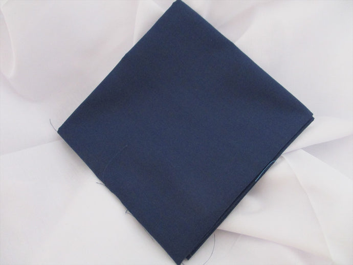 Plain Navy Poly Cotton