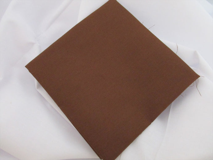 Plain Rusty Brown Poly Cotton