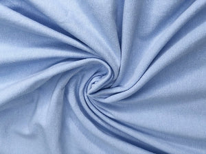Jersey Plain Sky Blue Lovely Quality 200 gr/m2 95% Cotton 5% Spantex
