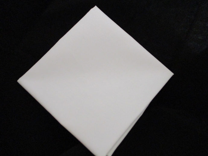 Plain White Poly Cotton