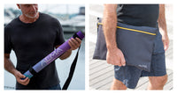 Foldable Travel Yoga Mat comes with a carrying strap and a special bag