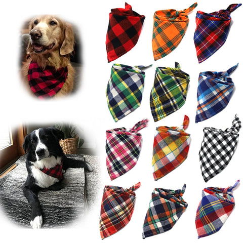 Perfect Plaid Bandannas (Large Dog)