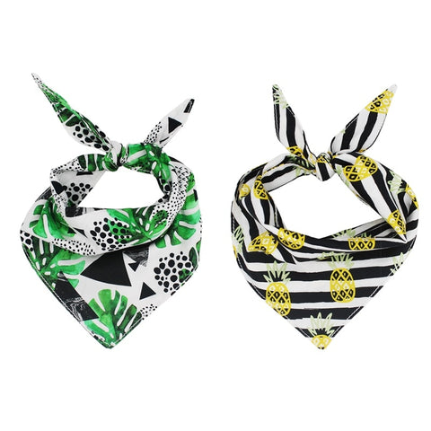 2 Pcs - Funky Pineapple Bandanna Set