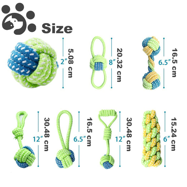 Cotton Rope Toy Sets ( set of 7 or 4)