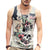 Mens Professional printing vest Brand singlets bodybuilding mens tank tops casual cotton Plus Big size XXL T-Shirt