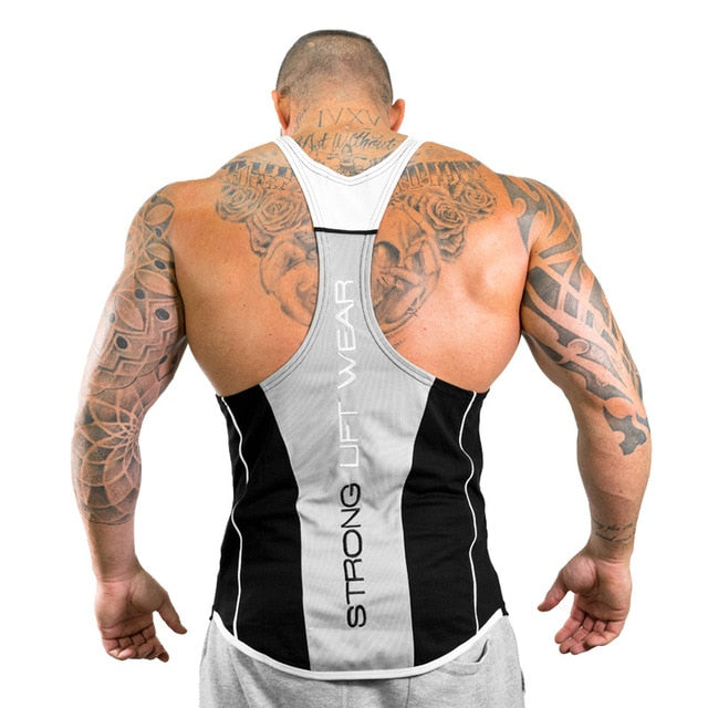 4480a8c9 Mens Bodybuilding Tank top Gyms Fitness sleeveless shirt 2018 New Male  Cotton clothing Fashion Singlet vest