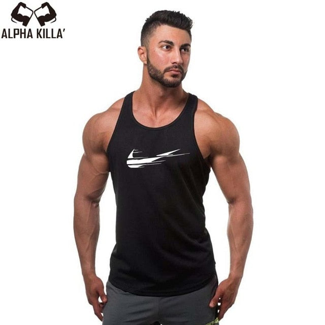 354cd21442004a 2018 New Golds gyms Brand singlet canotte bodybuilding stringer tank top  men fitness T shirt muscle