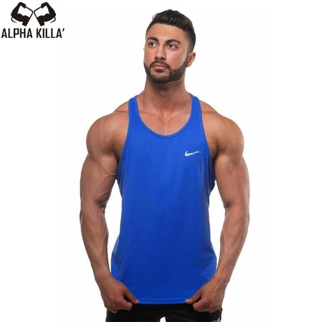 3acfc943f4ee03 2018 New Golds gyms Brand singlet canotte bodybuilding stringer tank top men  fitness T shirt muscle
