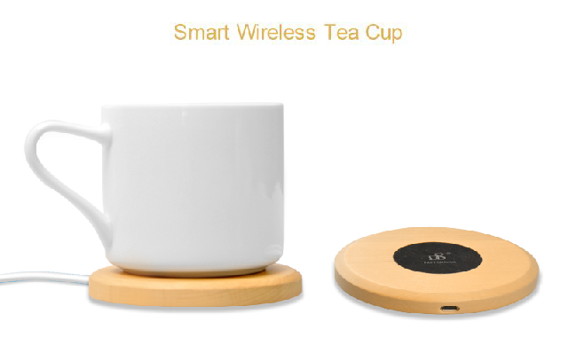Wooden Smart Wireless Charging Thermostat Cup CUPS-2105
