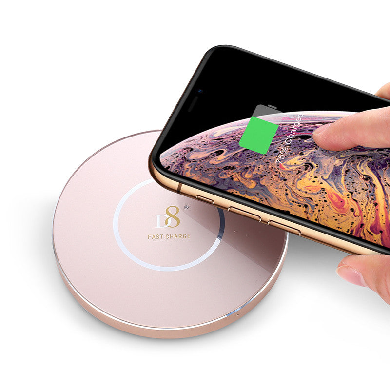 Silver Glass Wireless Charger - dynamic8 Technology