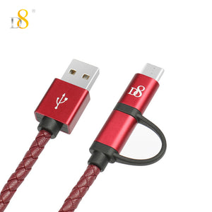 Micro USB & USB-C 2in1 Cable
