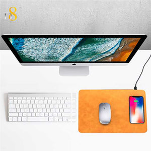 Mouse pad wireless charger