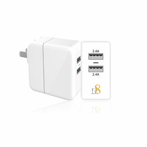 Dual USB ports  LED  wall charger - dynamic8 Technology
