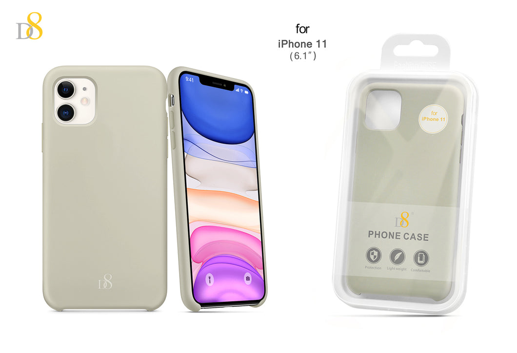 liquid silicone phone case for iPhone 11 (6.1