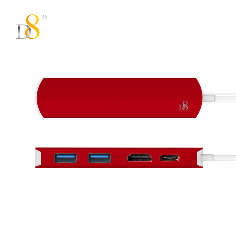 USB 3.0 Type C to HDMI 1.4 / USB 3.0 Type C / USB 3.0 Type B USB Hub 4 Ports High Speed