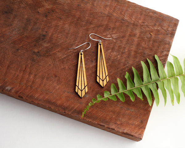 Rise Wooden Earrings