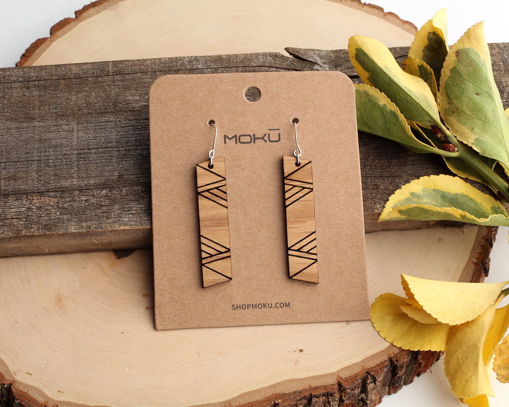 Tom-Tom | Wood Earrings | Cedar and Oak