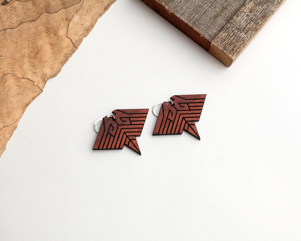Manta | Wood Earrings | Eucalyptus