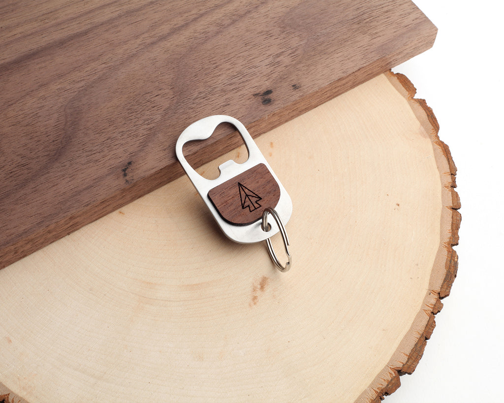 Arrowhead | Keychain Bottle Opener | Walnut and Oak