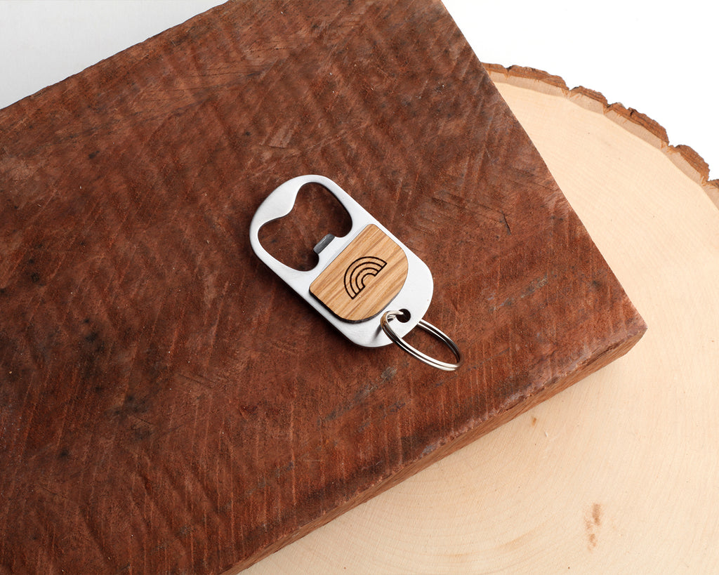 Rainbow | Keychain Bottle Opener | Eucalyptus and Oak
