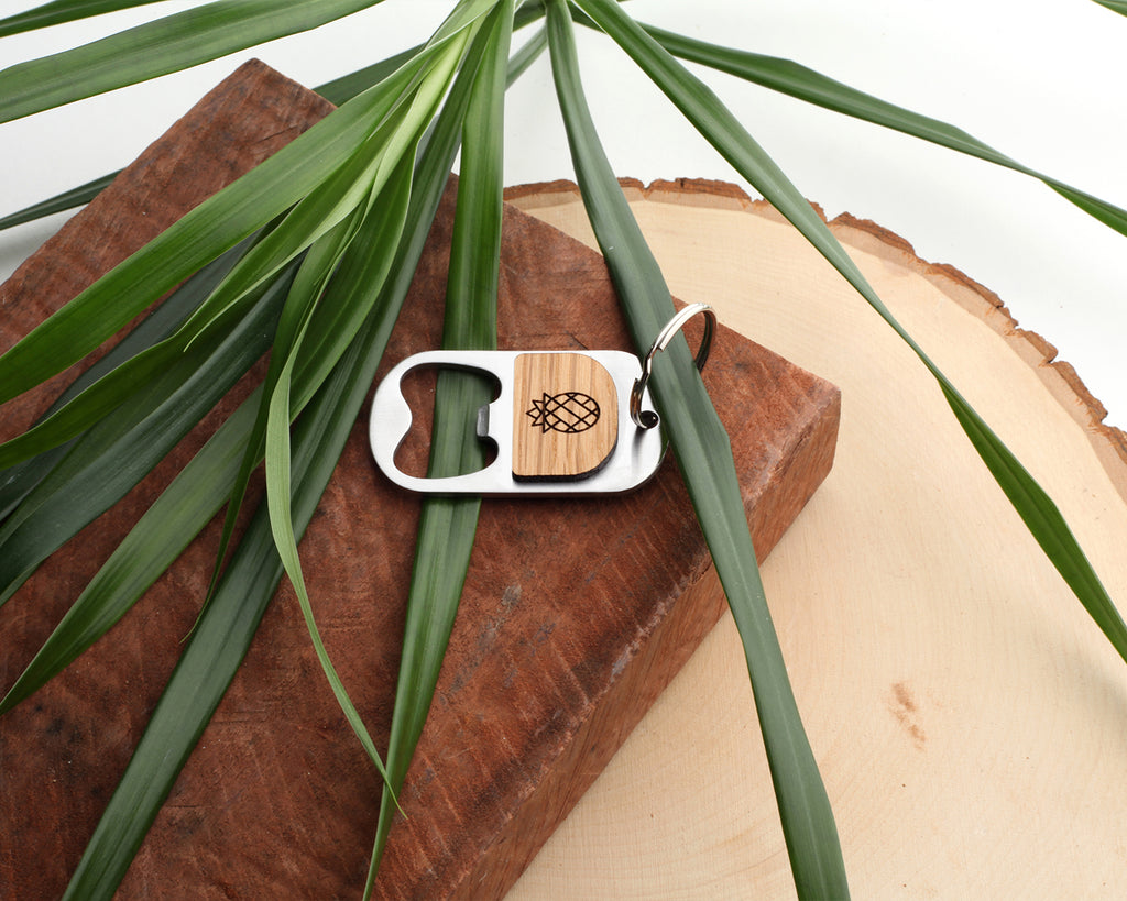Pineapple | Keychain Bottle Opener | Eucalyptus and Oak