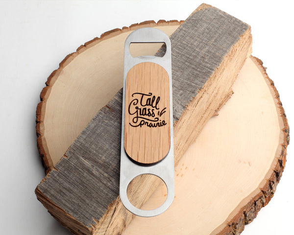 Tall Grass | Bar Key Bottle Opener | Walnut and Oak