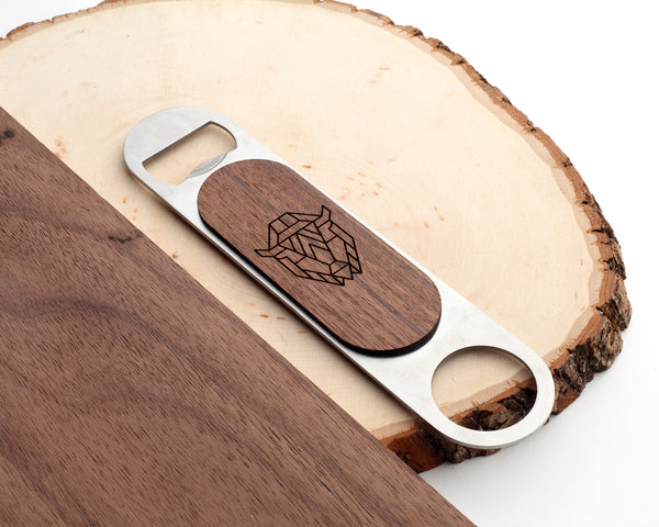 Bison | Bar Key Bottle Opener | Walnut and Oak