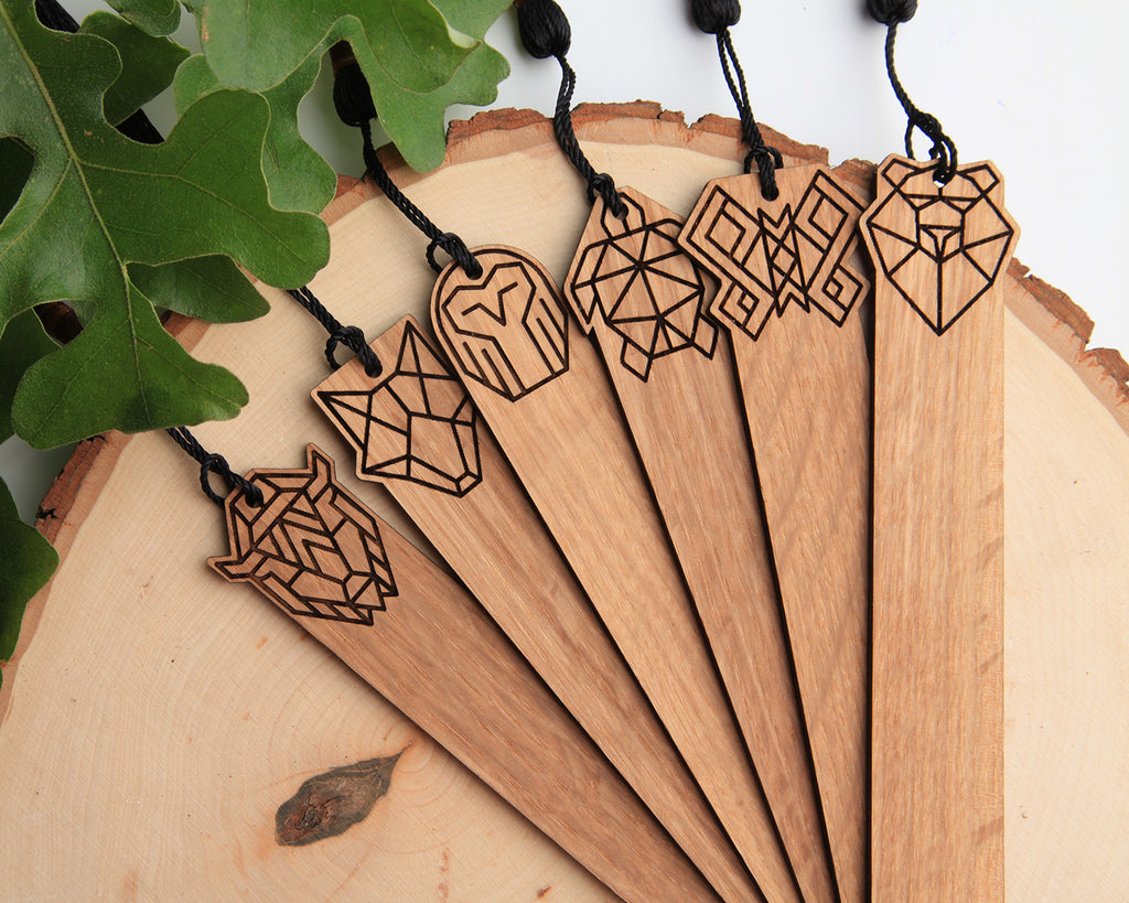 Bear Wooden Book Mark