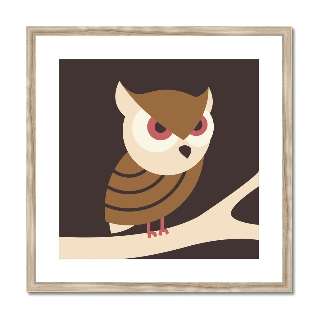 Owl Framed & Mounted Print