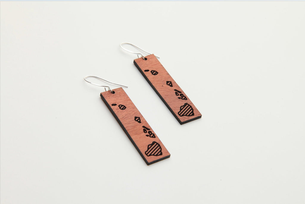 Wood Earrings | Hawaii | Eucalyptus
