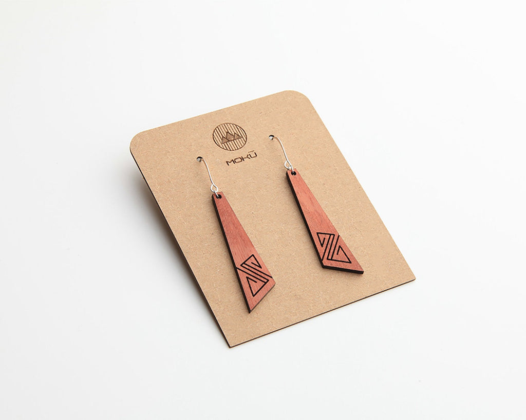 Wood Earrings | Surf | Eucalyptus and Hackberry