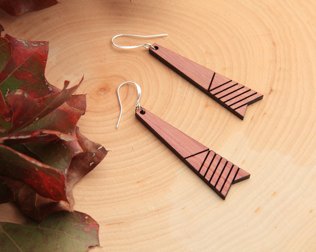 Element | Wood Earrings | Hackberry and Cedar