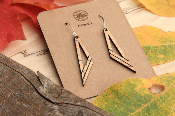 Diagonal Wooden Earrings