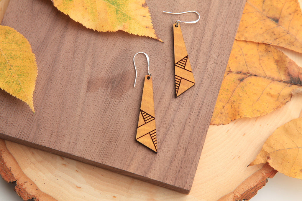 Modern Wooden Earrings