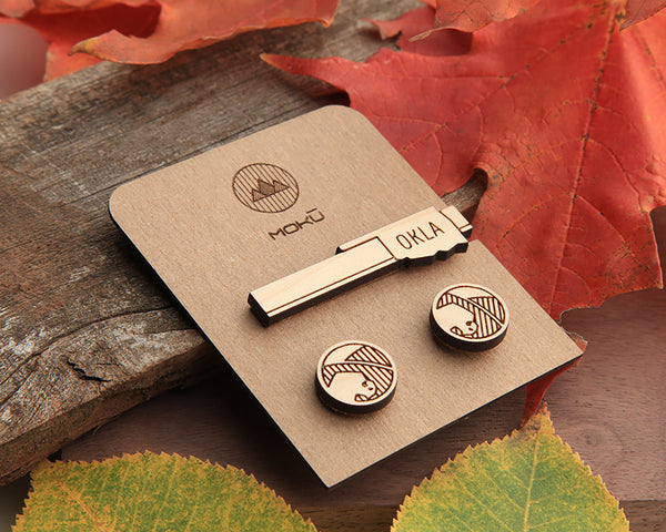 Oklahoma Tie Bar & Cufflink Set