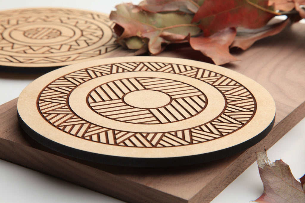 Wood Hot Plate | Geometric Radials | Made In Oklahoma