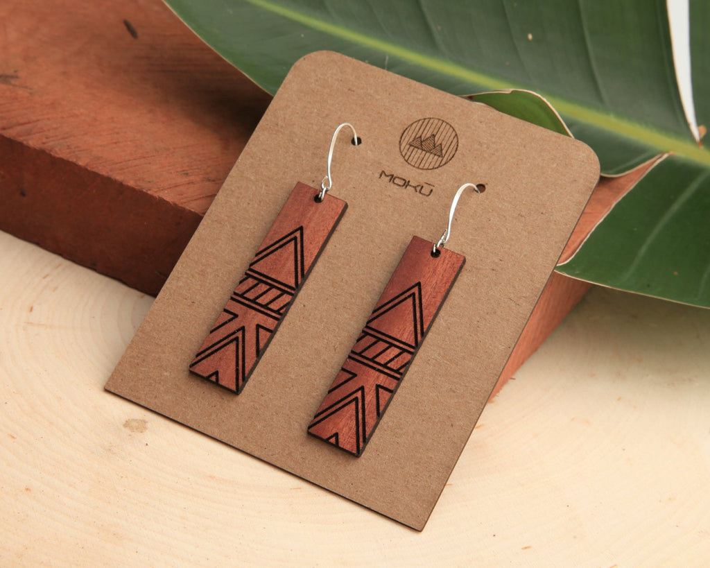 Wood Earrings | Tessler | Eucalyptus
