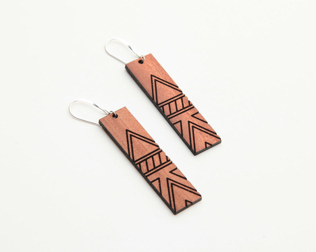 Tessler | Wood Earrings | Eucalyptus