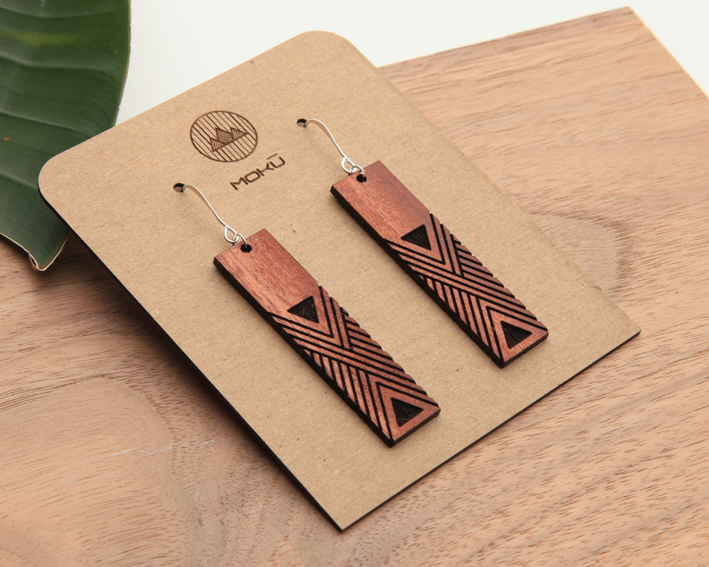 Hiwi | Wood Earrings | Eucalyptus