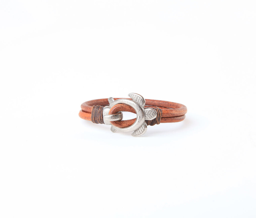 Honu | Leather Cuff | Various Metals