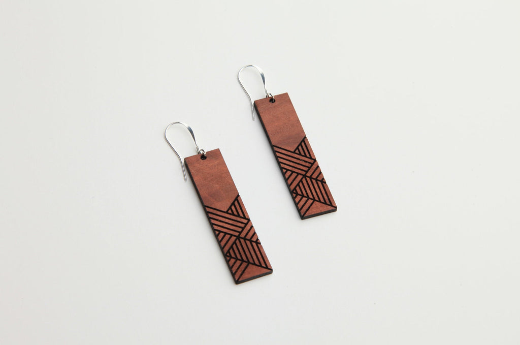 Weave | Wood Earrings | Eucalyptus