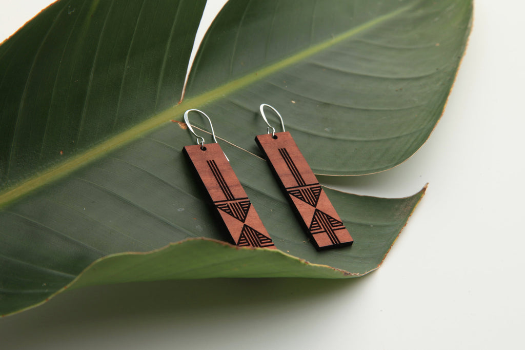 Ukulele | Wood Earrings | Eucalyptus