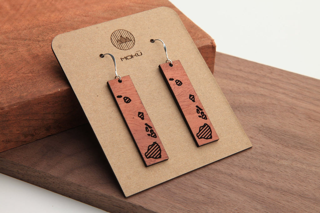 Hawaii | Wood Earrings | Eucalyptus
