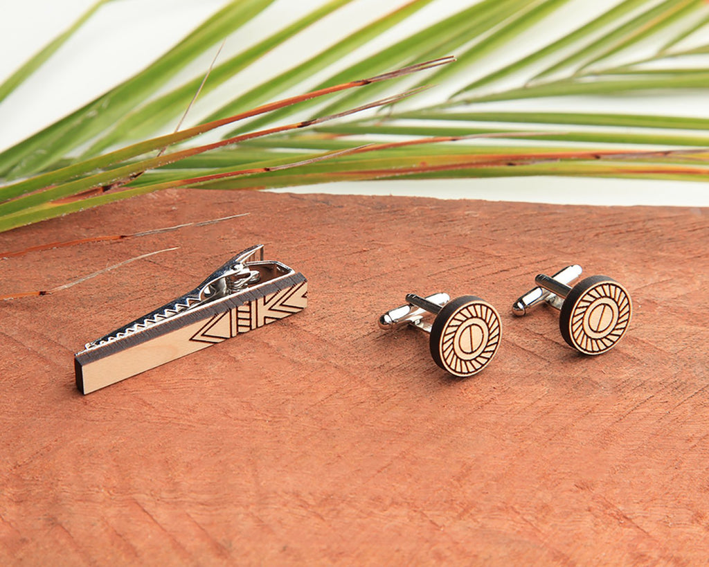Tessler Tie Bar & Cufflink Set