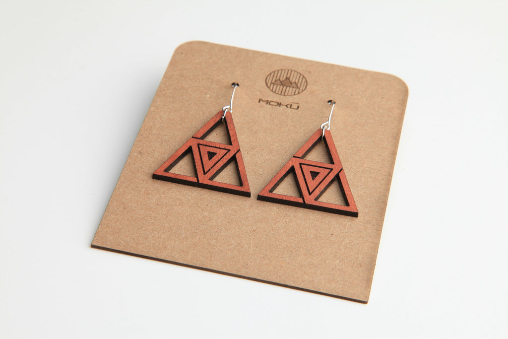 Hurricane | Wood Earrings | Hackberry and Eucalyptus