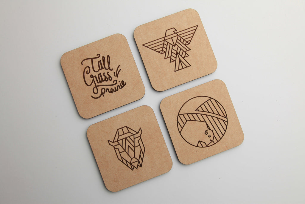 Tall Grass Series | Wood Coasters | Draftboard