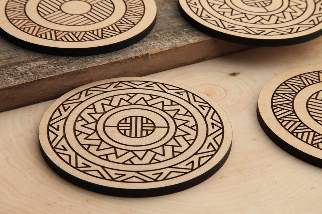 Radial Series | Wood Coasters | Draftboard